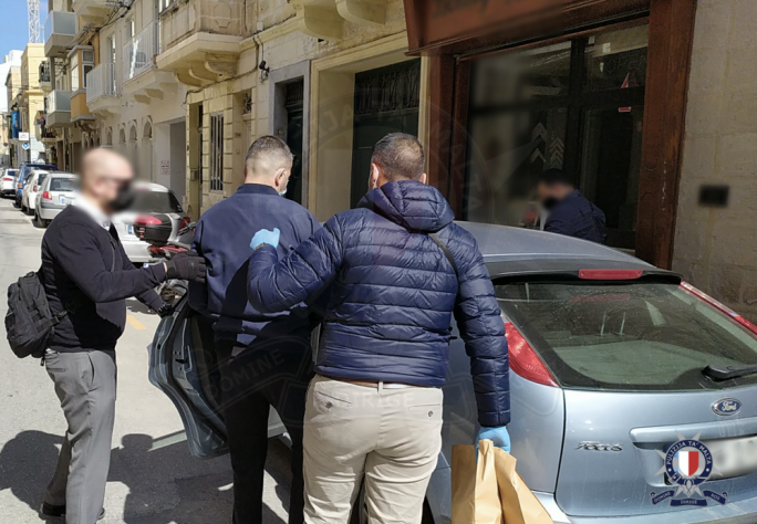 On Wednesday at around 12pm, police arrested a second person, a 40-year-old man from Macedonia (Photo: Malta Police Force)