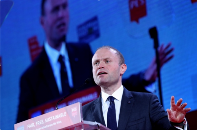 Prime Minister Joseph Muscat delivers speech at the PES Congress 2018 in Lisbon, Portugal