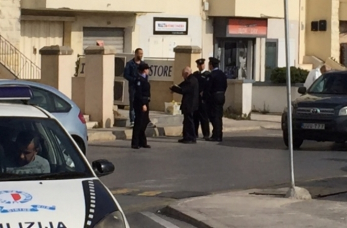 Police at the scene of the incident in Swieqi in 2016