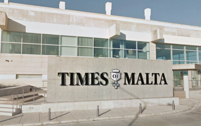 The Times of Malta website went offline just after 1pm on Wednesday