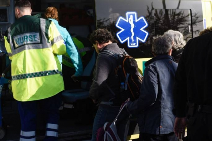 People who suffered slight injuries were taken to health centers