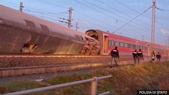 Italian high-speed train derails, killing both drivers