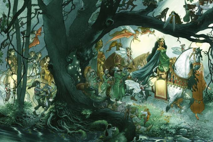Illustration by Charles Vess for Neil Gaiman's Stardust – a modern fairy tale retelling which proves the idiom's ongoing power and relevance