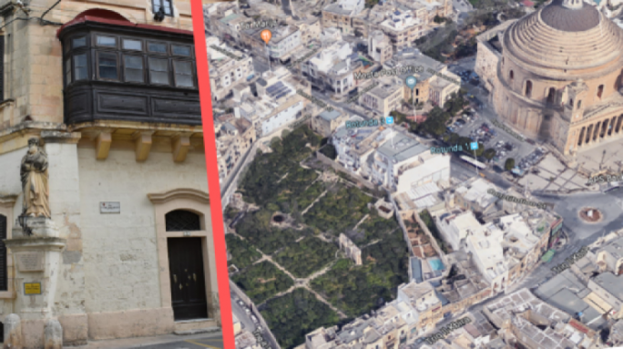 "The 13,000 sq.m Mosta garden is presently full of citrus trees and is arguably protected from development by the local plan as a ""green enclave"""