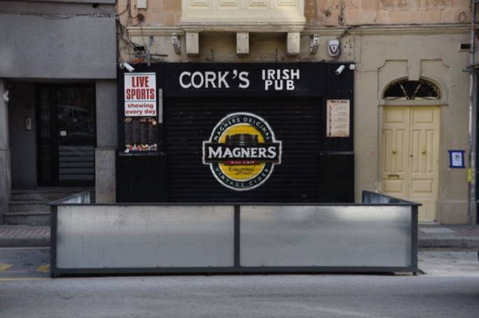 "The permit for Cork's Irish bar's outdoors platform was issued in the absence of any feedback by Transport Malta and against the advice of the MTA, which ""noted that the area is somewhat busy with traffic and therefore the site is not ideal for tables and chairs"""