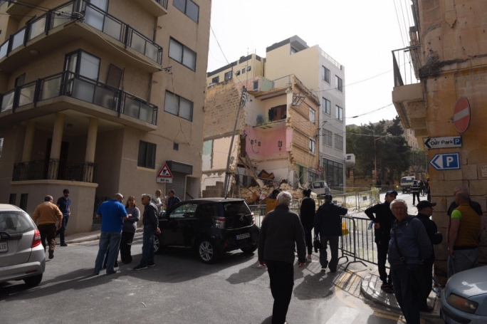UHM boss Josef Vella called the collapse of an apartment block in Guardamangia a 'disaster'