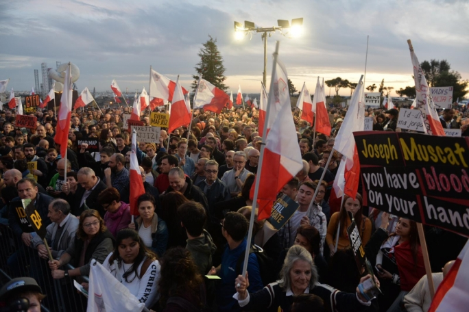 [WATCH] Thousands march on Castille demanding justice in Caruana Galizia assassination