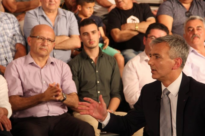 Edwin Vassallo (left) said that Simon Busuttil is 'an accomplice in the suppression of religious freedom'