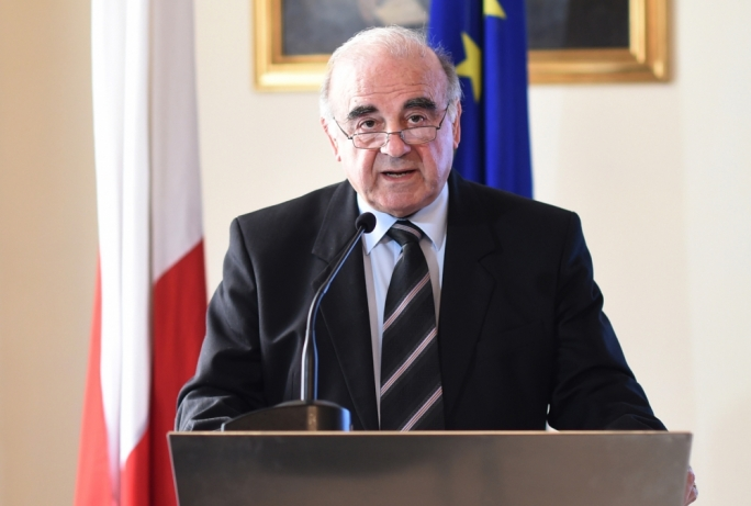 Foreign Affairs Minister George Vella discusses the changes in modern diplomacy (Photos by Ray Attard)