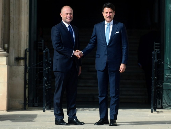 Joseph Muscat and Giuseppe Conte
