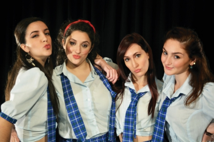 Girls gone wild (L-R): Shelby Aquilina, Daniela Carabott Pawley, Kim Dalli and Mariele Zammit