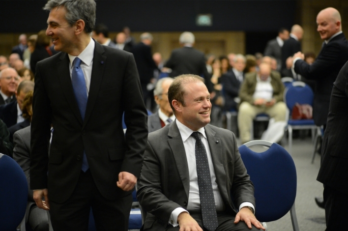 Joseph Muscat has challenged Simon Busuttil to step down if Egrant allegation is confirmed to be a lie