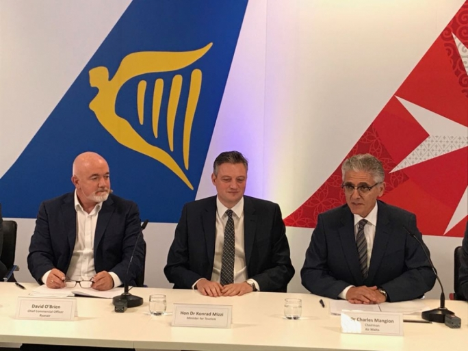 Up to 21 Air Malta flights will be available through the Ryanair website following an agreement between the two airlines
