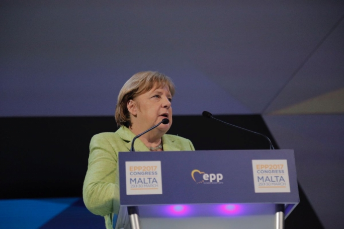 Angela Merkel said that the EU must beef up security at its external borders