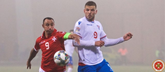 Michael Mifsud during the Match against Faroe Islands. Photo: Paul Zammit Cutajar / MFA