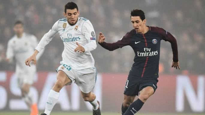 Matteo Kovacic (left) and Angel Di Maria (right) in action