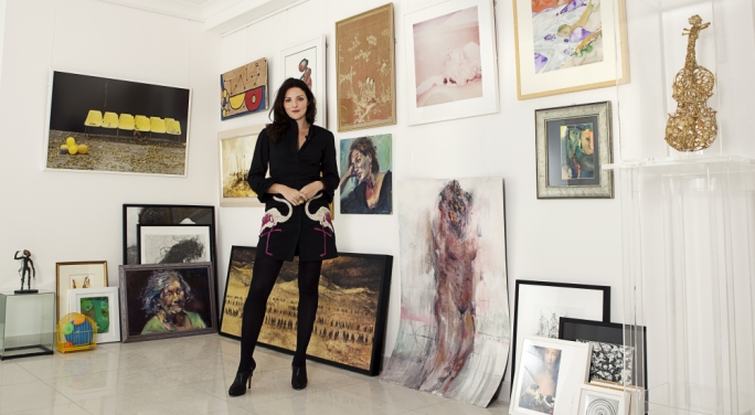 Lily Agius at her gallery