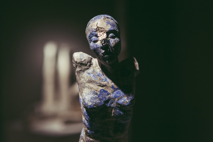 A sculpture by the Irish artist Sallyanne Morgan at her solo exhibition in 2019 at Lily Agius Gallery