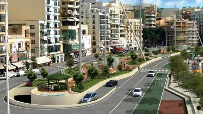 As proposed: the Sliema ferries car park and overground rehabilitation