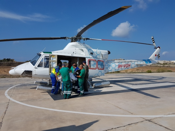 One of the photos posted by the Gozo General Hospital CEO denying that the helicopter had developed a fault