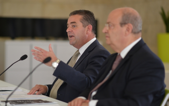 PN deputy leader Beppe Fenech Adami and Opposition MP Francis Zammit Dimech Photo: Ray Attard