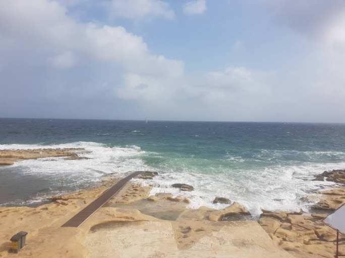 The Sliema shoreline will be hit by force 6 winds as early as Tuesday afternoon