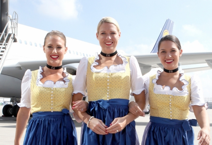 Lufthansa to take off in traditional folk costume during Oktoberfest