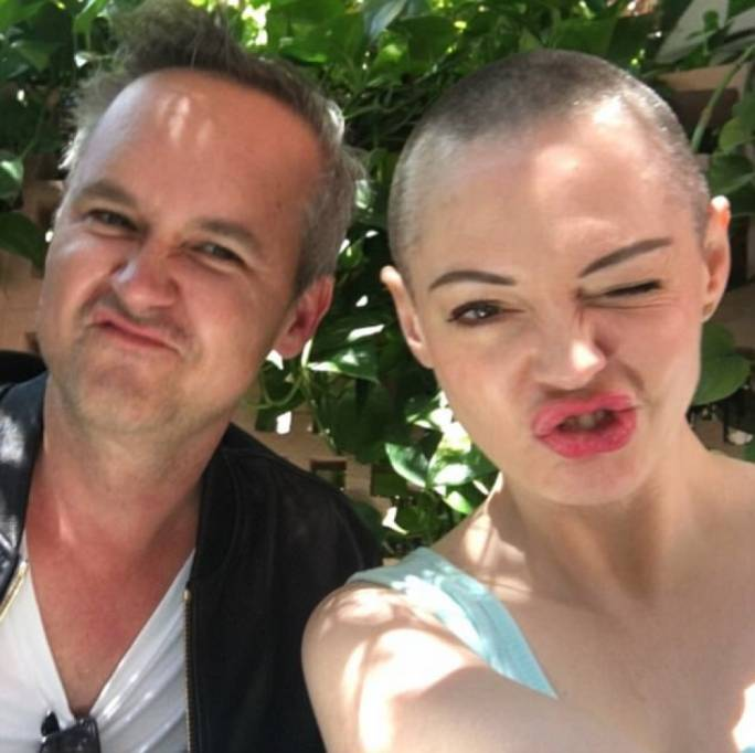 Rose McGowan with Amazon studio head Roy Price in June, 2016  (Photo: Daily Mail)