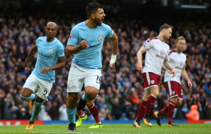 Aguero set Manchester City on their way to victory with his seventh goal in seven games