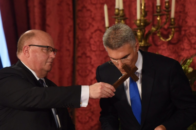 Carmelo Abela being sworn in as minister of foreign affairs and promotion of trade