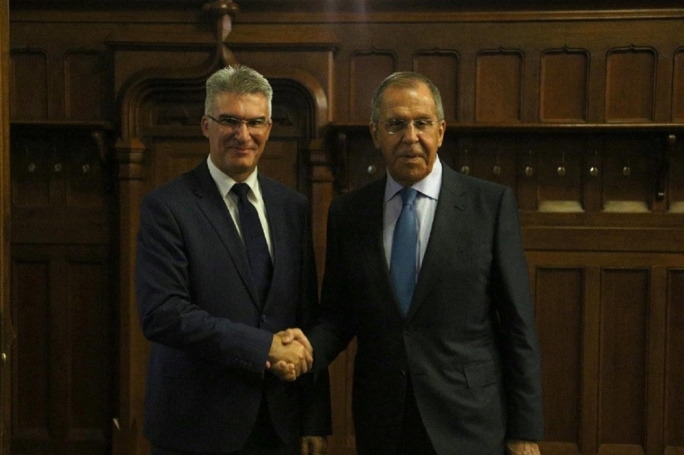 Foreign ministers Carmelo Abela and Sergei Lavrov