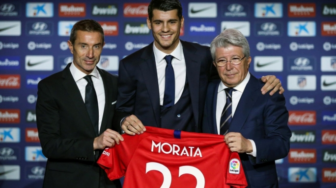Alvaro Morata joined Atletico Madrid after securing an 18-month loan deal