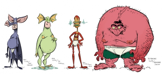 Character designs for The League of Extraordinary Underpants by Mark Scicluna