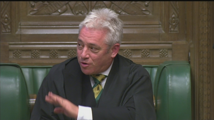 Speaker John Bercow has put a lid on the possibility of a vote on the Brexit deal before all relevant legislation is tabled