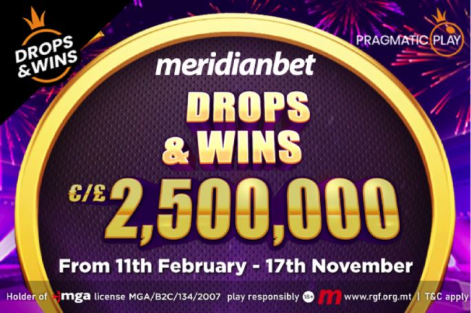 €2,500,000 up for grabs with Meridianbet
