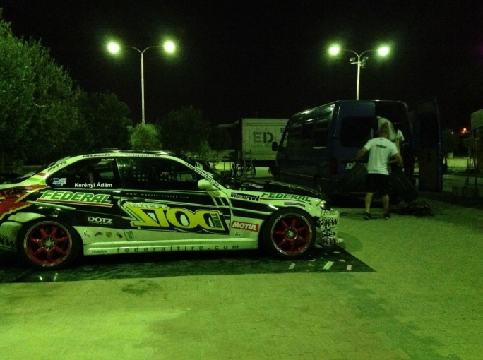 King of Europe drift champion Adam Kerenyi's car