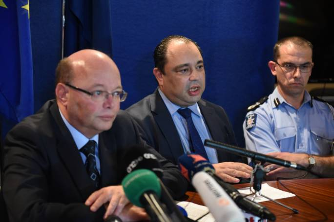 The Commissioner of Police, Lawrence Cutajar (left) and the deputy police commissioner, Silvio Valletta, husband of Gozo Minister Justyne Caruana