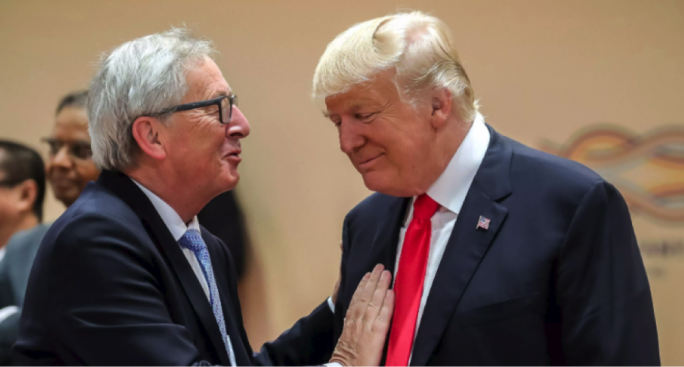 European carmakers climbed after President Donald Trump backed off his threat to levy tariffs on cars imported to the U.S. during a meeting with European Commission President Jean-Claude Juncker