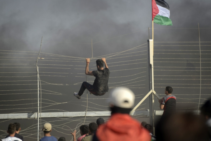 Hundreds of Palestinians were injured at the Gaza border on Friday