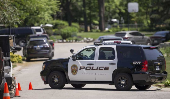 Police at Noblesville West Middle School (Photo: Robert Scheer/IndyStar)
