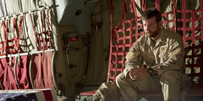 Sharp-shooter in repose: Bradley Cooper is once again in the Oscar cross-hairs thanks to Clint Eastwood's politically divisive Iraq War thriller