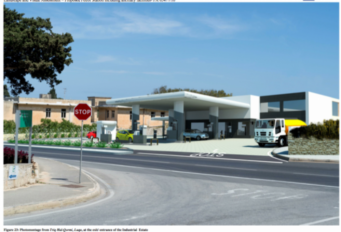 The petrol station proposed in Luqa