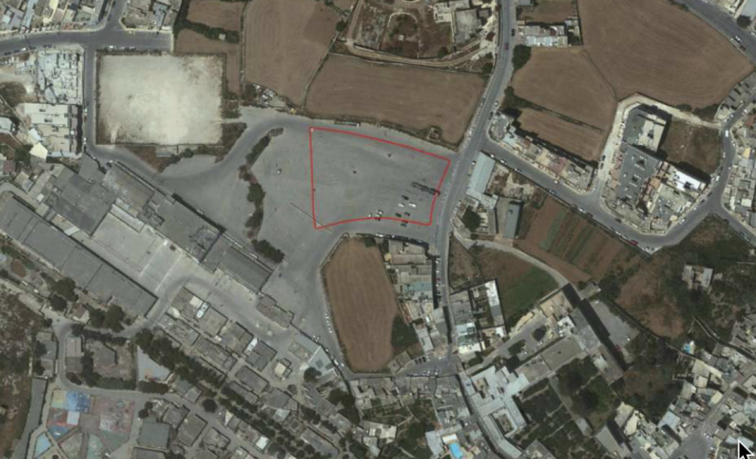 The area of the Naxxar trade fair car park earmarked for development, one of three projects for the entire area