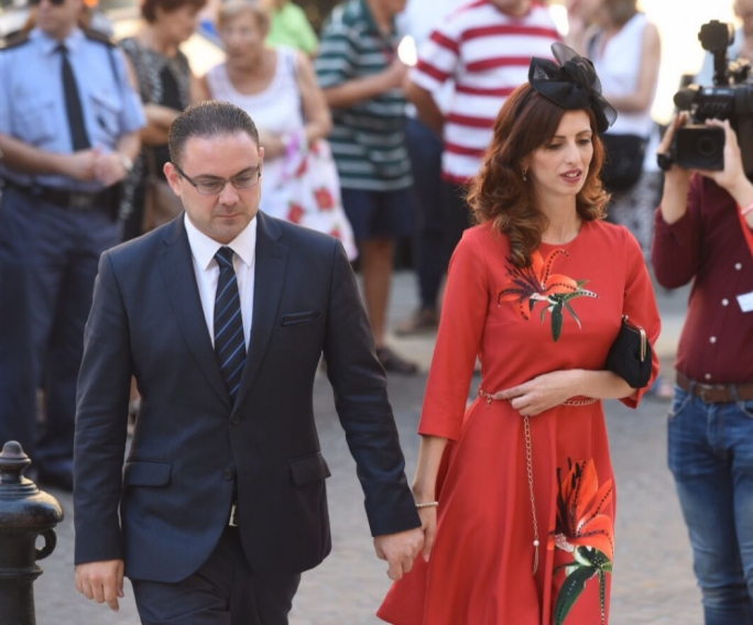 Justice Minister Owen Bonnici and Janice Bartolo