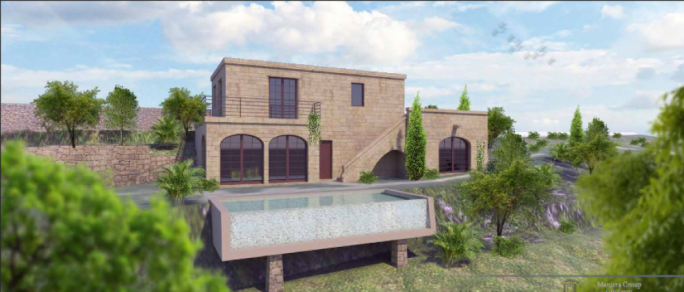 The proposed villa at Bahrija