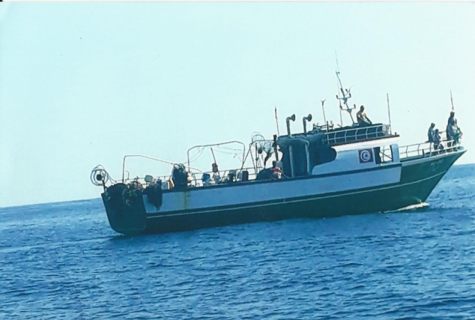 Eyewitnesses spoke of a 65-foot vessel, nicknamed the 'Bin Laden', which uses aggressive tactics to muscle Maltese fishermen off their lines