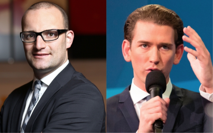 The new right: as a young, openly gay man, the 36-year-old Jens Spahn is seen as having the potential to rejuvenate the aging CDU party in Germany, while in Austria 31-year old premier Sebastian Kurz is the right-wing's equivalent of poster-boy politicians like Justin Trudeau and Emmanuel Macron