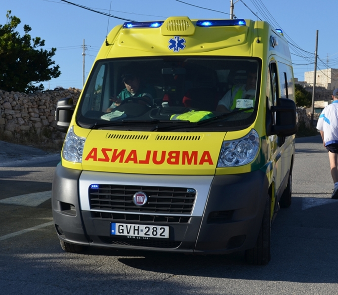 A medical team dispatched on site and conveyed the woman to Mater Dei hospital for treatment