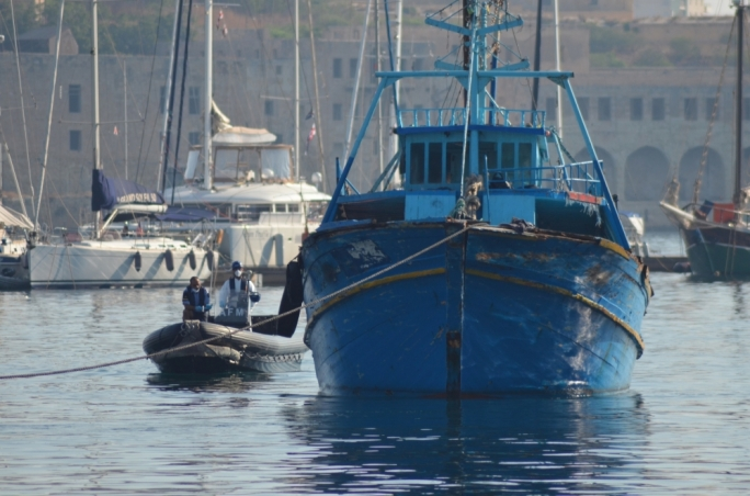 The boat on which 29 migrants, including a baby, perished was brought to Malta