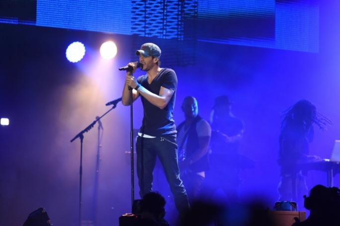 Enrique Iglesias at Isle of MTV last night. Photo by Ray Attard